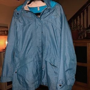 Blue North Face coat